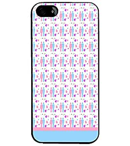 PrintDhaba Love Couple Pattern D-1597 Back Case Cover for APPLE IPHONE 4 (Multi-Coloured)