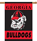 NCAA Georgia Bulldogs 2-Sided 28-by-40 inch House Banner Bulldog Logo with  Pole Sleeve at Amazon.com