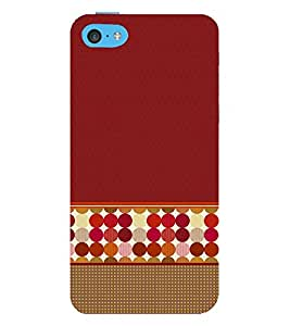 Sticker Wall Art Dotted 3D Hard Polycarbonate Designer Back Case Cover for Apple iPhone 5C