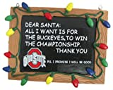 Ohio State Buckeyes Official NCAA 3 inch x 4 inch Chalkboard Sign Christmas Ornament
