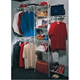 ClosetMaid 160831 5-to-8-Foot Closet Organizer