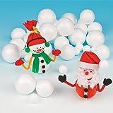 Lot de 36 Boules de Neige en Polystyrène à personnaliser - Idéal pour les Décorations de Noël...