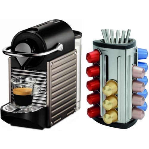 coffee makers nespresso pixie c60. Black Bedroom Furniture Sets. Home Design Ideas