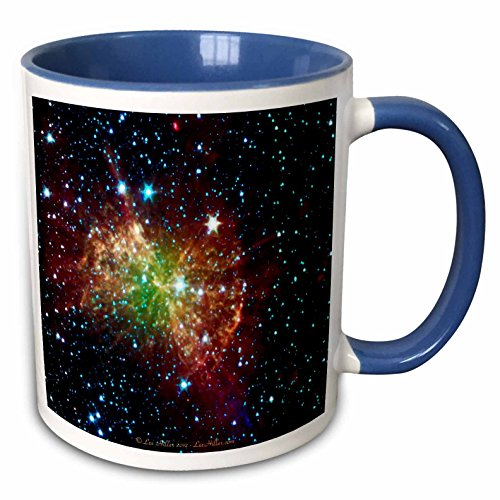 Lee Hiller Designs Space - In the Cosmos - Dumbbell Nebulapia - 11oz Two-Tone Blue Mug (mug_61548_6)