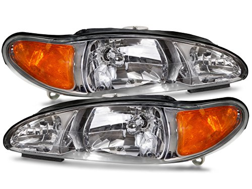 Ford Escort (Not ZX2)/Tracer Headlights Headlamps Driver/Passenger Pair New (Ford Escort Zx2 Wheels compare prices)