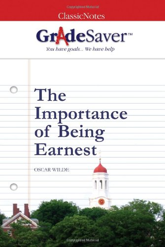 the importance of being earnest essays gradesaver the importance of being earnest oscar wilde
