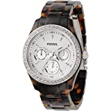 Fossil Women's Stella Watch ES2456 TORTISE SHELL BAND