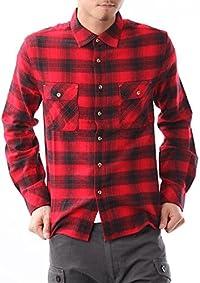 JIGGYS SHOP (ジギーズショップ) コットンネルチェックシャツ M レッドバッファロー