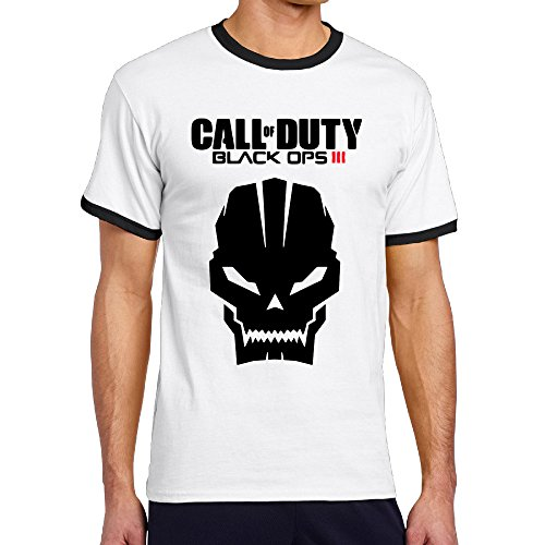 MayDay Call Duty Black Video Game Men's Contrast Color T Shirt Personalized T-shirt XL Black