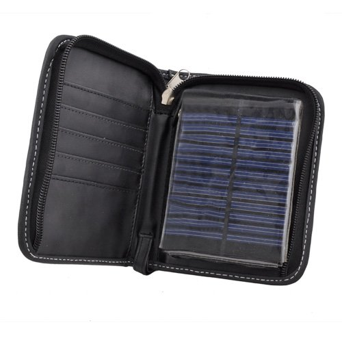 Solar Wallet with Calculator,wallet Solar Charger