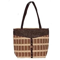 Sangeetha Bag (Handicraft Jute Bag Fb63) Women's Handbag -Brown