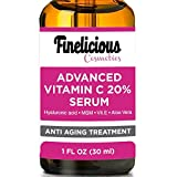 BEST VITAMIN C Serum for Face. Top Anti Wrinkle, Anti aging , Repairs Dark Circles, Fade Age Spots and Repair Sun Damage.20% organic Vit C + E + Hyaluronic Acid.1 oz