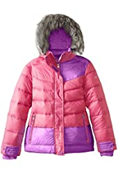 Free Country Big Girls' Down Color-Block Jacket