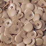 Snap-On Bifix Cover Caps To Use with Phillips Ph2 & Pozidrive Pz2 Pozi Screws - Pack Of 50 Biffix Covers : Walnut Brown