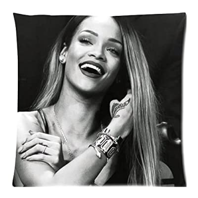 Rihanna Pillow Cases Cover 18x18 inch Cushion Case (Two sides)