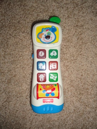 Fisher Price Learning Phone Baby Toddler Pretend Music Do g Face Teddy Bear - 1