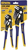 IRWIN Tools VISE-GRIP GrooveLock Pliers, Straight Jaw, 8- and 10-inch (1802532)