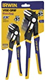 IRWIN 1802532 Vise-Grip Groove Lock Straight Jaw Pliers Set,  2-Piece