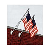 10ft Aluminum heavy duty wall mount kit - USA 3 x 5 Sewn Nylon Flag