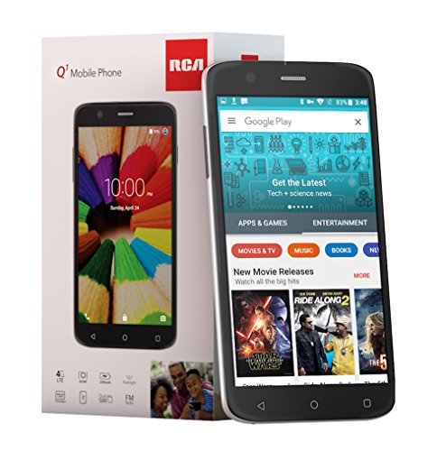 RCA Q1 4G LTE, HD, Unlocked Dual SIM Cell Phone, 8GB, 8MP, Android 5.1 - Black