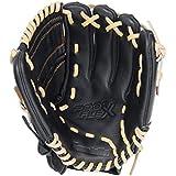 Franklin Sports Pro Flex Hybrid Series Cowhide Fielding Right Hand Glove, 11.5-Inch, Black/Camel, 11.5-Inch/Black...