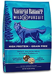 Natural Balance Wild Pursuit Trout, Salmon Meal & Tuna Formula Dry Dog Food, 10-Pound