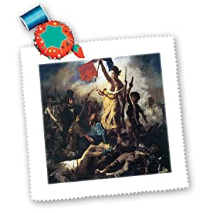 qs_130152_3 BLN Assorted Works Of Fine Art Collection - Liberty Leading the People by Eugene Delacroix - Quilt Squares - 8x8 inch quilt square