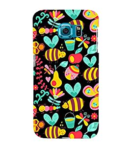 Honey Bee Pattern 3D Hard Polycarbonate Designer Back Case Cover for Samsung Galaxy S6 Edge+ :: Samsung Galaxy S6 Edge Plus :: Samsung Galaxy S6 Edge+ G928G :: Samsung Galaxy S6 Edge+ G928F G928T G928A G928I