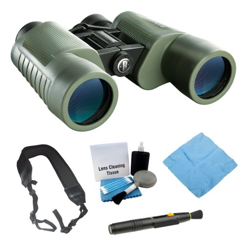 Bushnell 220840 Natureview Backyard Birder 8X 40Mm Binocular + Lens Cleaning Kit + Pen Cleaning Tool + Cleaning Cloth + Wide Strap