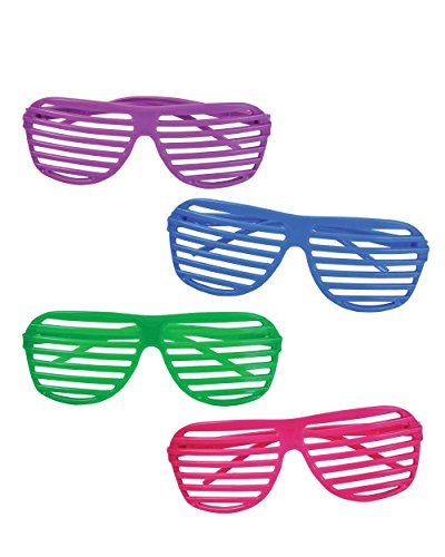 Rhode Island Novelty - 24 Pairs of 80s Shutter Sunglasses