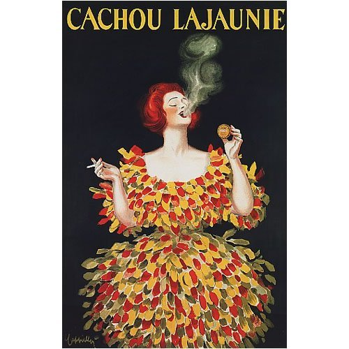 CACHOU LAJAUNIE SHOW GIRL FASHION FRENCH VINTAGE POSTER CANVAS REPRO