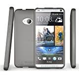 HTC One Case (2013, Model M7) , Diztronic Matte Back Aluminum Gray Flexible TPU Case for HTC One M7 (2013)