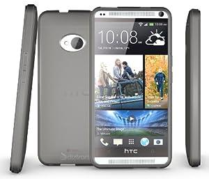 Diztronic Matte Back Aluminum Gray Flexible TPU Case for HTC One (2013) - Retail Packaging