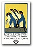 TW84 Vintage 1924 For The Zoo London Underground To Regent's Park Or Camden Tube Railway Travel Poster Re-Print - A4 (297 x 210mm) 11.7