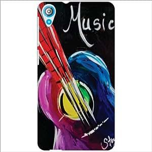 HTC Desire 820Q Back Cover - Music Designer Cases