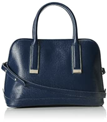 Ivanka Trump Amanda Dome Satchel Top Handle Bag,Navy,One Size
