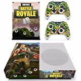 Xbox One Vinyl Skin Sticker Cover for Xbox System Console and Controllers- Fortnite (Battle Royal)