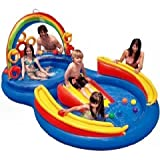 Inflatable Intex Rainbow Ring Play Center Water Slide By Intex Inflatable Slides