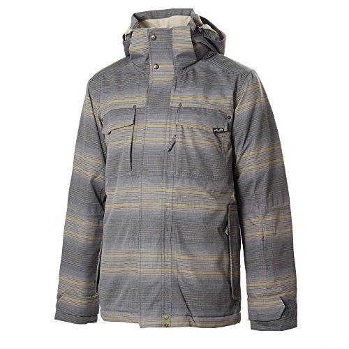 Planet Earth Men's Faded Flannel Insulated Jacket (Smokey Black ,X-Large)