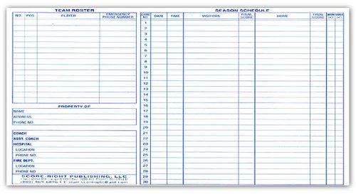 sport book college basketball scorebook