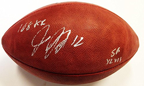 Jacoby Jones Signed Authentic Super Bowl 47 Football