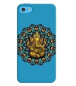 ColourCrust Apple iPhone 5C Mobile Phone Back Cover With Lord Ganesha Ganpati Devotional - Durable Matte Finish Hard Plastic Slim Case