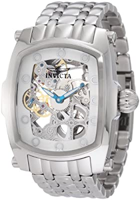 Invicta Men's 1252 Lupah Mechanical Skeletonized Dial Stainless Steel Watch