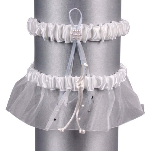 Ivy Lane Design presents Beverly Clark Collection Celebrity Collection, Garter Set, White by Ivy Lane Designs