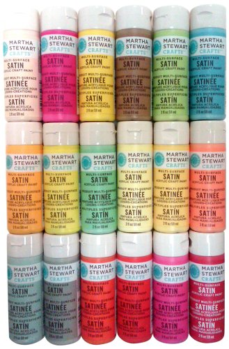 Martha Stewart Promo767E Acrylic Paint, 2-Ounce, Best Selling Colors Iii front-182139