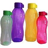 Tupperware Aquasafe Water Bottles Set Of 4,( 2 Pcs 1 Lt ,2 Pcs 500 Ml )