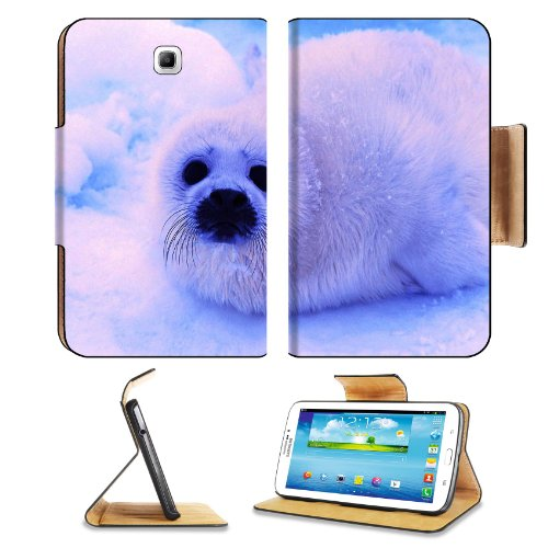 Animal Wildlife Seal Snow Cute White Furry Baby Samsung Galaxy Tab 3 7.0 Flip Case Stand Magnetic Cover Open Ports Customized Made To Order Support Ready Premium Deluxe Pu Leather 7 12/16 Inch (190Mm) X 5 5/8 Inch (117Mm) X 11/16 Inch (17Mm) Luxlady Galax front-993656