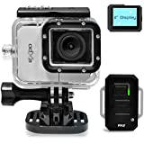 Pyle eXpo Hi-Res Mini Action Video Camera with 20 Mega Pixel Camera, 2-Inch LCD Screen and Wi-Fi Remote (Cool Gray)