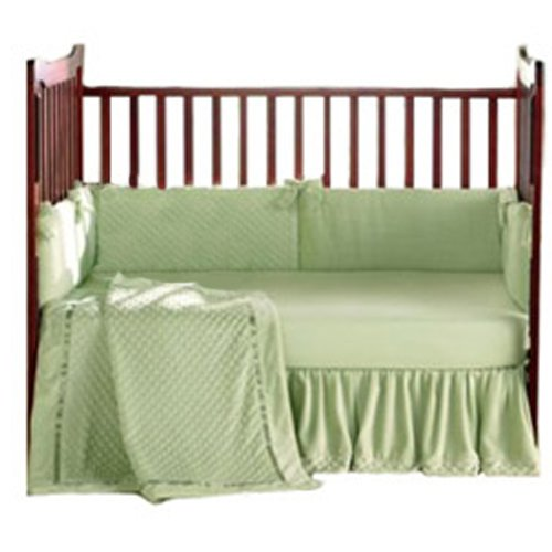 Baby Doll Bedding Heavenly Soft Crib Bedding Set, Sage
