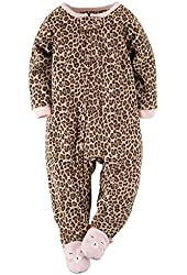 Carter's Baby Girls' 1-Piece Footed Fleece Pajamas
